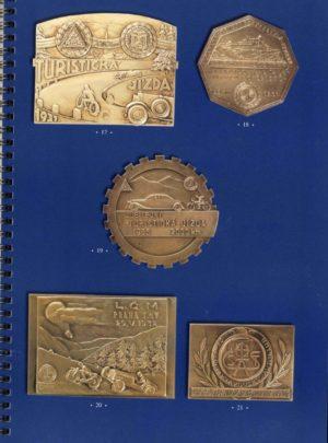 200 Československých motoristických plaket z období 1922-1939
