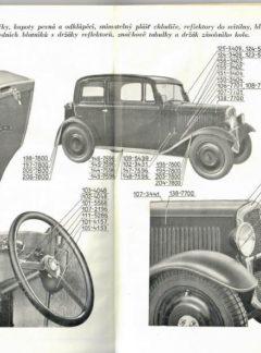 Seznam náhradních dílů vozu Škoda 420 (originál)