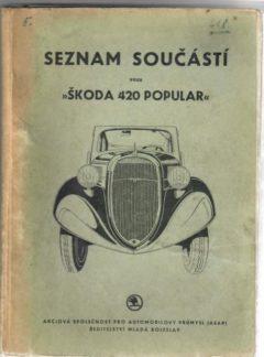 Seznam součástí vozu Škoda 420 Popular (originál)