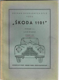 Seznam náhradních dílů vozu Škoda 1101 (originál)