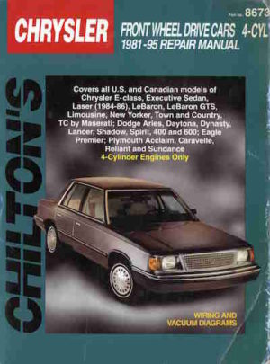 Chrysler front wheel drive cars 4-cyl