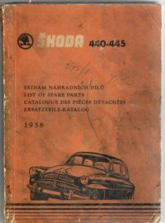 Škoda 440-445, Seznam náhradních dílů