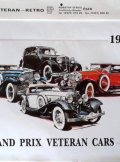 Kalendář 1992 Grand Prix Veteran Cars