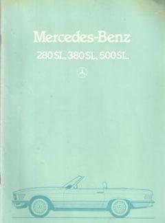 Mercedes-Benz 280SL, 380SL, 500SL
