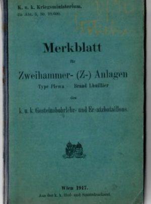 Merkblatt für Zweihammer- (Z-) Anlagen Type Plewa – Brand Lhuillier
