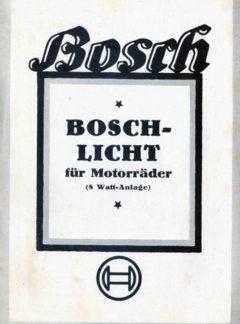 Bosch – Licht für Motorräder (8 watt-Anlage)