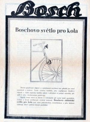 Boschovo světlo pro kola