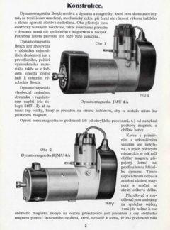 Dynamo-magnetky Bosch pro motorová vozidla