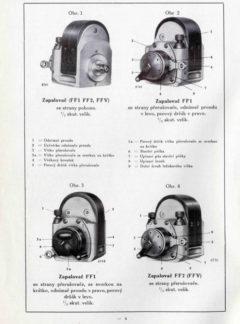 Zapalovače Bosch FF1, FF2 a FFV