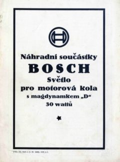 Náhradní součástky Bosch – Světlo pro motorová kola s magdynamem 30 W