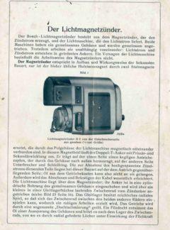 Der Lichtmagnetzünder Bosch D2A