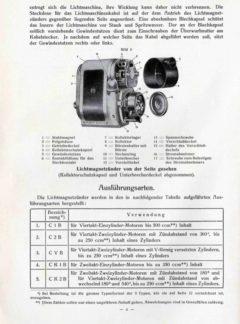 Bosch Licht für Motorräder mit 15 Watt Lichtmagnetzünder