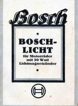 Bosch Licht für Motorräder mit 30 Watt Lichtmagnetzünder