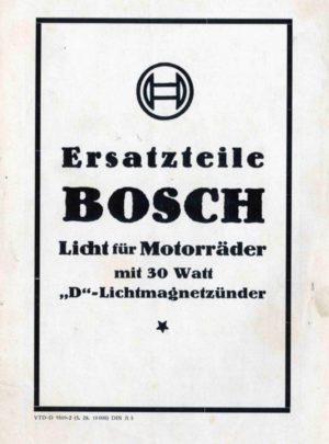 """Ersatzteile Bosch Licht für Motorräder mit 30 Watt """"D"""" Lichtmagnetzünder"""