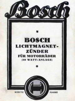 Bosch Lichtmagnet-zünder für Motorräder (30 Watt-anlage)