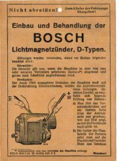 Bosch Lichtmagnetzünder D-typen