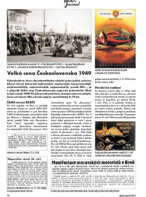 Motor Journal GP Československa 1949