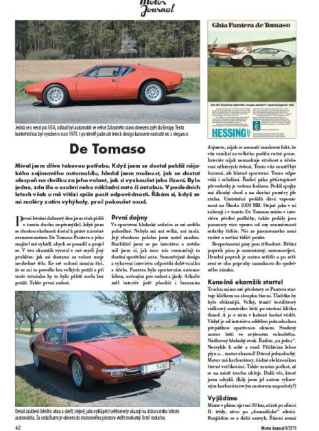 Motor Journal De Tomaso Pantera