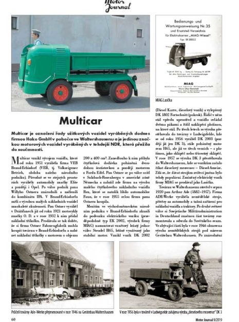Motor Journal Multicar