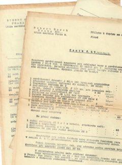 Robert Bosch – korespondence – dobové ceníky