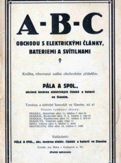 A-B-C obchodu s elektrickými články, bateriemi a svítilnami