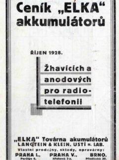 Ceník ELKA akumulátorů