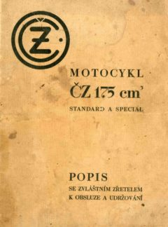 Motocykl ČZ 175 Standard a Special