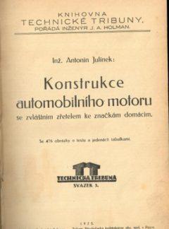 Konstrukce automobilního motoru