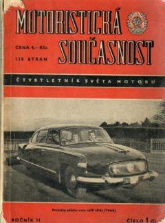 Motoristická současnost 1956 číslo 1
