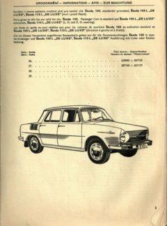 Seznam náhradních dílů Škoda 100, 100L, 110L