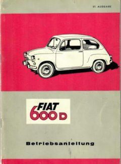Fiat 600 D Betriebsanleitung