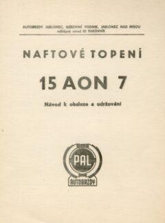 Naftové topení 15 AON 7