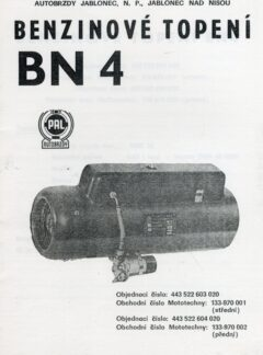 Benzinové topení BN 4