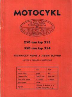 Motocykl Jawa 250 ccm typ 353, 350 ccm typ 354
