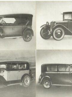 Historische Kraftfahrzeuge – Konkurrenzwagen der zwanziger Jahre